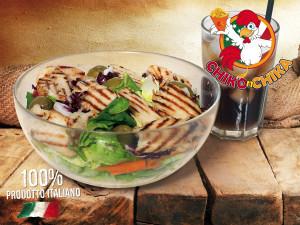 chiko grill salad, l'insalata con il pollo alla griglia di chiko n chika