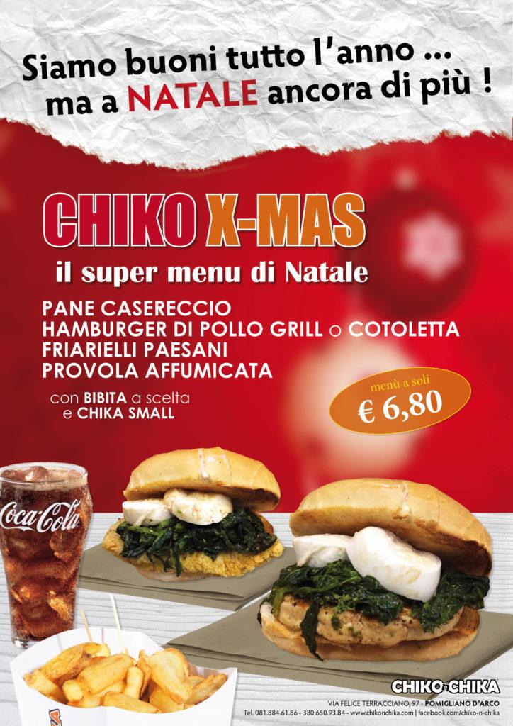 il menu di Natale CHIKO XMAS